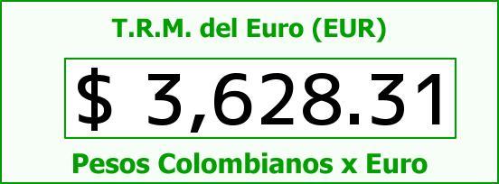 T.R.M. del Euro para hoy Lunes 14 de Diciembre de 2015