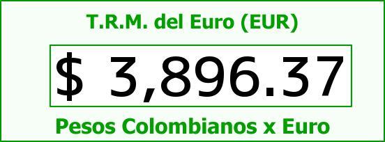 T.R.M. del Euro para hoy Lunes 15 de Febrero de 2016