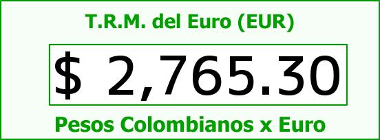 T.R.M. del Euro para hoy Lunes 18 de Mayo de 2015