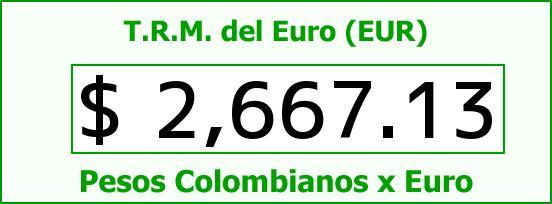 T.R.M. del Euro para hoy Lunes 20 de Abril de 2015