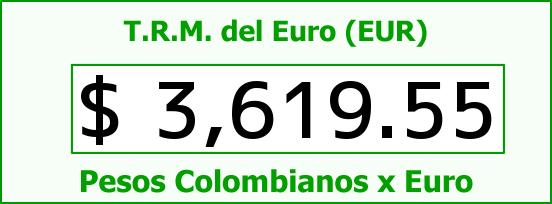 T.R.M. del Euro para hoy Lunes 21 de Diciembre de 2015