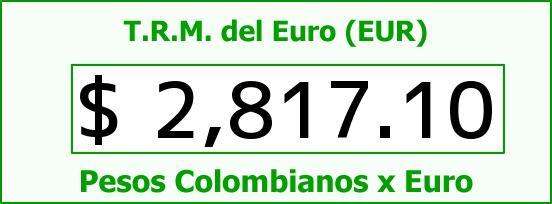 T.R.M. del Euro para hoy Lunes 22 de Diciembre de 2014