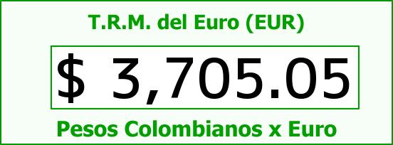 T.R.M. del Euro para hoy Lunes 22 de Febrero de 2016