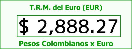 T.R.M. del Euro para hoy Lunes 22 de Junio de 2015