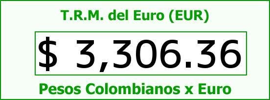 T.R.M. del Euro para hoy Lunes 25 de Abril de 2016