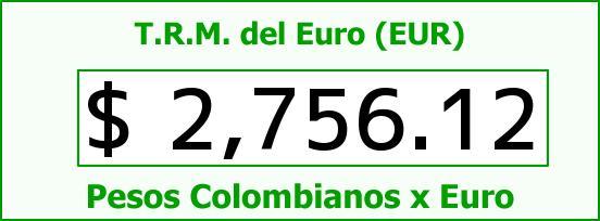 T.R.M. del Euro para hoy Lunes 25 de Mayo de 2015