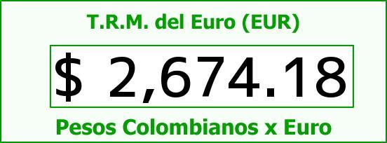 T.R.M. del Euro para hoy Lunes 27 de Abril de 2015