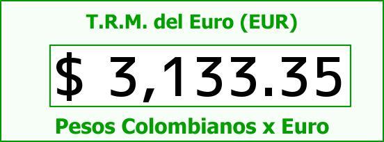 T.R.M. del Euro para hoy Lunes 27 de Julio de 2015
