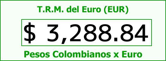 T.R.M. del Euro para hoy Lunes 27 de Junio de 2016