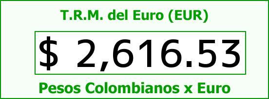 T.R.M. del Euro para hoy Lunes 27 de Octubre de 2014