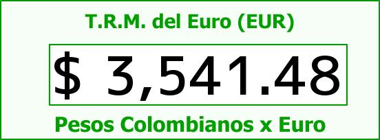 T.R.M. del Euro para hoy Lunes 28 de Diciembre de 2015