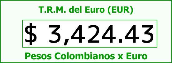 T.R.M. del Euro para hoy Lunes 28 de Marzo de 2016