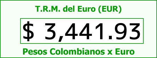 T.R.M. del Euro para hoy Lunes 28 de Septiembre de 2015