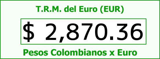 T.R.M. del Euro para hoy Lunes 29 de Diciembre de 2014