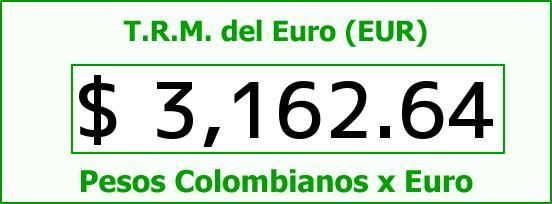 T.R.M. del Euro para hoy Lunes 3 de Agosto de 2015