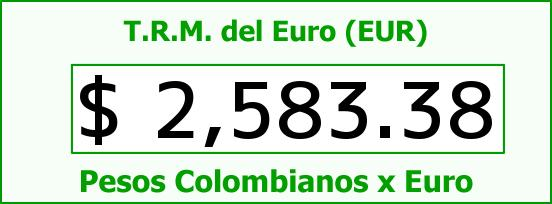 T.R.M. del Euro para hoy Lunes 3 de Noviembre de 2014