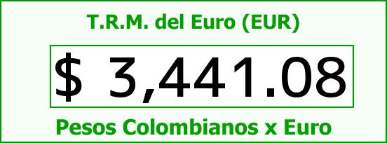 T.R.M. del Euro para hoy Lunes 4 de Enero de 2016