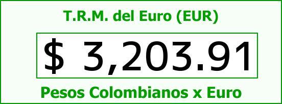 T.R.M. del Euro para hoy Lunes 4 de Julio de 2016