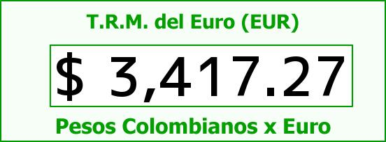 T.R.M. del Euro para hoy Lunes 7 de Diciembre de 2015