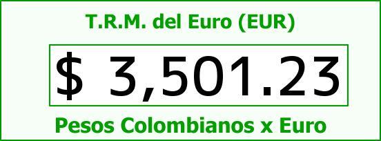 T.R.M. del Euro para hoy Lunes 7 de Marzo de 2016