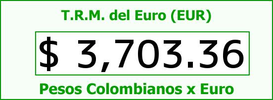 T.R.M. del Euro para hoy Lunes 8 de Febrero de 2016