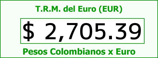 T.R.M. del Euro para hoy Lunes 9 de Febrero de 2015