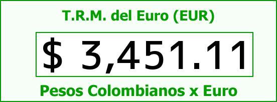 T.R.M. del Euro para hoy Martes 1 de Septiembre de 2015