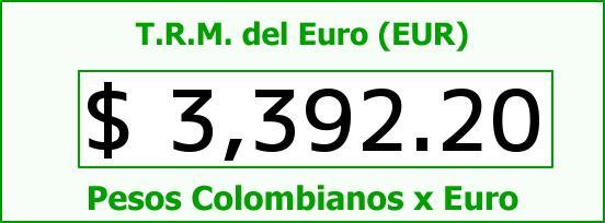 T.R.M. del Euro para hoy Martes 10 de Mayo de 2016