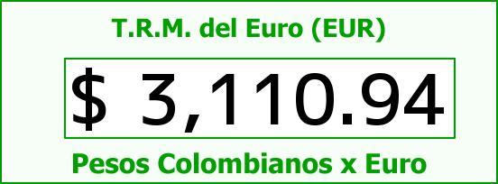 T.R.M. del Euro para hoy Martes 10 de Noviembre de 2015