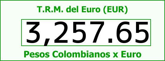 T.R.M. del Euro para hoy Martes 12 de Julio de 2016
