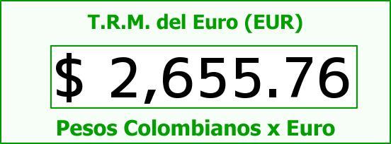 T.R.M. del Euro para hoy Martes 12 de Mayo de 2015