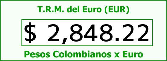 T.R.M. del Euro para hoy Martes 13 de Enero de 2015