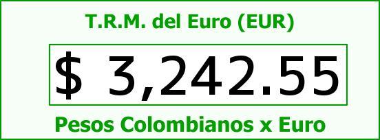 T.R.M. del Euro para hoy Martes 13 de Octubre de 2015
