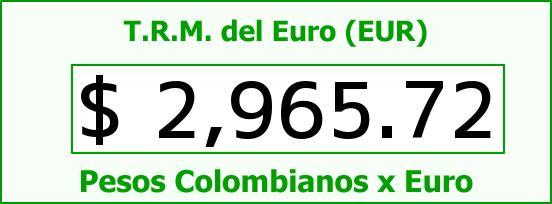 T.R.M. del Euro para hoy Martes 14 de Julio de 2015