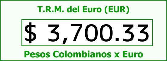 T.R.M. del Euro para hoy Martes 15 de Diciembre de 2015