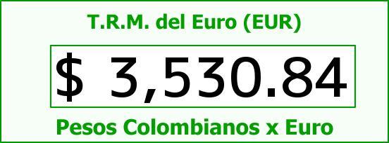 T.R.M. del Euro para hoy Martes 15 de Marzo de 2016