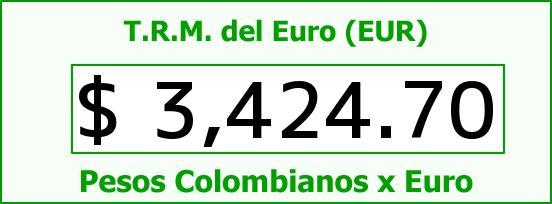 T.R.M. del Euro para hoy Martes 15 de Septiembre de 2015