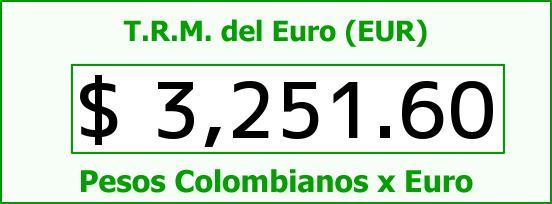 T.R.M. del Euro para hoy Martes 16 de Agosto de 2016