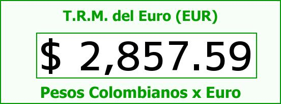T.R.M. del Euro para hoy Martes 16 de Junio de 2015