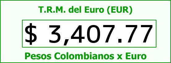 T.R.M. del Euro para hoy Martes 17 de Mayo de 2016