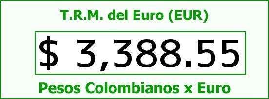 T.R.M. del Euro para hoy Martes 19 de Abril de 2016
