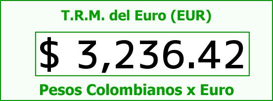 T.R.M. del Euro para hoy Martes 19 de Julio de 2016
