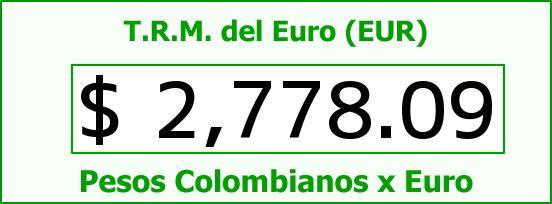 T.R.M. del Euro para hoy Martes 2 de Junio de 2015