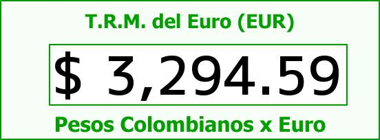 T.R.M. del Euro para hoy Martes 20 de Octubre de 2015