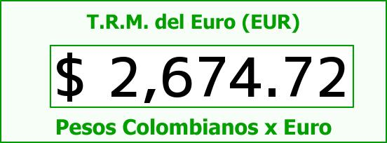T.R.M. del Euro para hoy Martes 21 de Abril de 2015