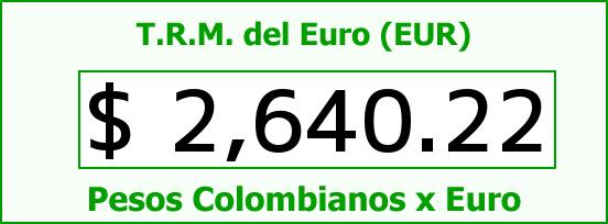 T.R.M. del Euro para hoy Martes 21 de Octubre de 2014