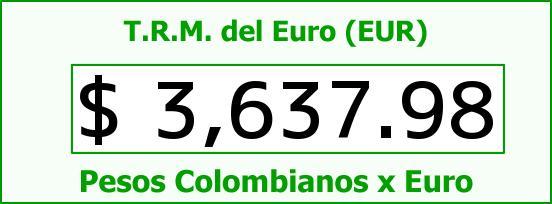 T.R.M. del Euro para hoy Martes 22 de Diciembre de 2015
