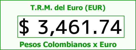 T.R.M. del Euro para hoy Martes 22 de Marzo de 2016