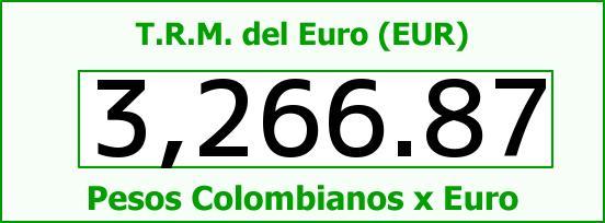 T.R.M. del Euro para hoy Martes 23 de Agosto de 2016