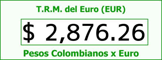 T.R.M. del Euro para hoy Martes 23 de Junio de 2015